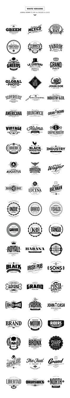 20% Off - 60 Badges & Logos Bundle by Easybrandz on Creative Market