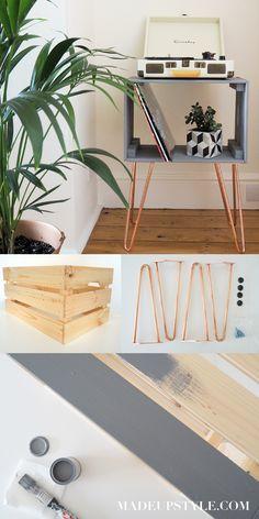 Crate Nightstand Diy Ikea Hacks 51 Ideas For 2019 Crate Side Table, Ikea Side Table, Side Table Decor, Side Tables Bedroom, Diy Table, Diy Side Tables, Wine Crate Table, Ikea Table Hack, Ikea Crates