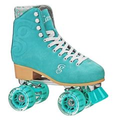 New Candi Girl Carlin Roller Skates. This is all new recreational roller skate from Roller Derby feature split suede leather uppers boot in four bright amazing colors. Outdoor Roller Skates, Roller Derby Skates, Quad Skates, Roller Skating, Roller Derby Clothes, Retro Roller Skates, Tween Girl Gifts, Tween Girls, Rollers