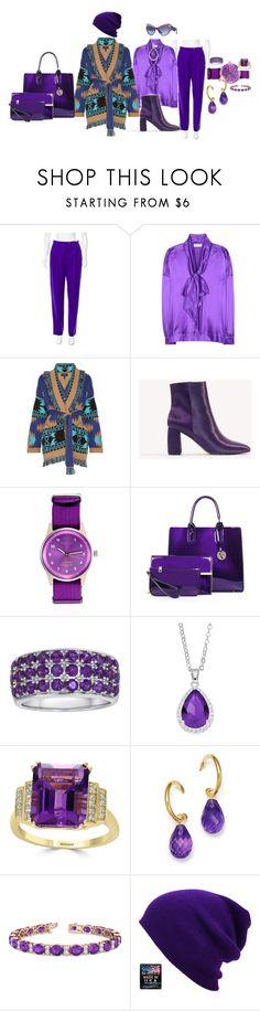 """Purple rain drops"" by blujay1126 ❤ liked on Polyvore featuring ESCADA, Balenciaga, Alanui, NA-KD, Triwa, City Rox, Effy Jewelry, Bloomingdale's, Allurez and Versace"