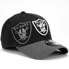 Men's New Era Oakland Raiders Classic 39THIRTY? Black Structured Flex Hat by New Era. $24.94. The New Era? Classic 39THIRTY? black, structured hat offers a unique look for game day. This flex-fit cap displays two NFL? team logos, one full color and one monochrome, embroidered on the front. A smaller team logo is showcased on the back.