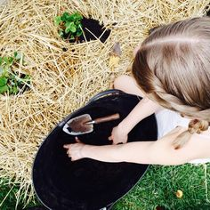Watching your teenager plant a garden makes the world feel right again.
