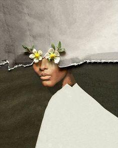 Maja Egli (Swiss, based Zug, Switzerland) - Collages, Handmade and Digital Creative Portraits, Creative Photography, Fine Art Photography, Surreal Collage, Surreal Art, Fashion Collage, Fashion Art, Pop Art, Flower Collage