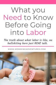 This list of things you should know before labor but no one ever talks about will help you feel better prepared before child birth. #laboranddelivery #childbirth #pregnancy #pregnant