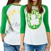 51eff38a2db6 Boston Celtics Women s All-American Three-Quater Sleeve Raglan T-Shirt –  White