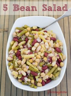5 Bean Salad recipe is a perfect summer side dish recipe. This Bean Salad recipe is a light and healthy side dish via flouronmyface.com