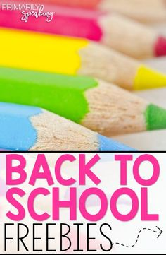 Great freebies for back to school!  I love the versatility of the FREE presentation.