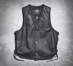 Tell your story. The Tradition Leather Vest can be affixed with patches and insignia reminiscent of your travels. | Harley-Davidson Men's Tradition Leather Vest