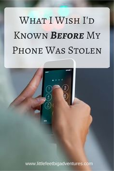I hope this information will help someone. it's the only way I can turn this negative into a positive. What I Wish I'd Known Before My Phone Was Stolen