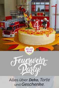 Firefighter Birthday Party | Fireman Birthday Ideas ...