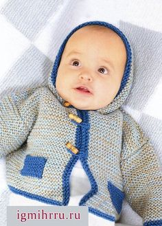 HOODED JACKET FOR BABY 6-9 MONTHS / HandWork Art