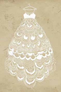 'Fancy Dress' illustration by Yasmin (aprintaday) Art And Illustration, Illustrations, Manequin, Fru Fru, Poster S, Fashion Sketches, Line Art, Fancy Dress, Fashion Art