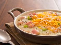 Ham and Cheese Grits... good use of ham leftovers