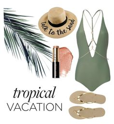 """""""Tropical Vacation 🌴🐠"""" by andreaaaaa23 ❤ liked on Polyvore featuring Mikoh, Havaianas and Bobbi Brown Cosmetics"""