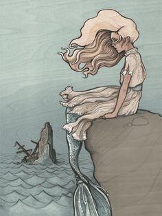 Evolution of a Mermaid by Tasha Chapman graphite on balsa #ElementEdenArtSearch