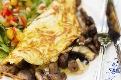 Omelett med champinjoner