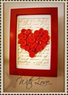 DIY Button Craft: DIY Button Framed Art