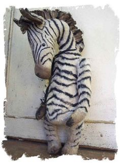 Handmade Zebra by Whendi - Cute to decorate your nursery!
