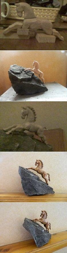 Лошадь  Автор - Vaxo Sarishvili   #woodcarving #woodbeecarver #whittling #woodcarving #carving