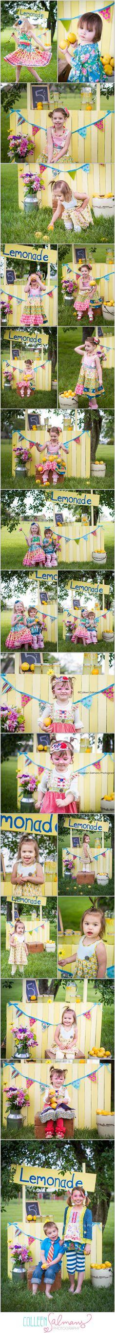 Styled Lemonade Stand Photography ~ colleensalmansphotography.com » Kansas City Portrait & Child Photographer