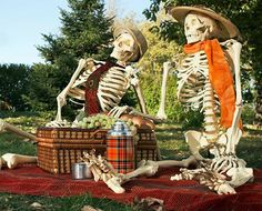 Spooktacular Holiday Decor...I need to find a 2nd skeleton