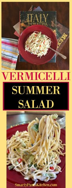 Summer Salad Vermicelli Summer Salad Light Pasta Dish That Is Over The Top In Flavor Texture And Deliciousness Great Dish For A Party Or A Big Crowd Cold Vermicelli Pasta Salad Is Perfect For Summer Entertaining Quick Easy Flavorful Vermicelli Salad, Vermicelli Recipes, Pasta Salas, Low Calorie Pasta, Pasta Side Dishes, Seafood Pasta, Quick Easy Dinner, Shrimp Salad, Pasta Salad Recipes