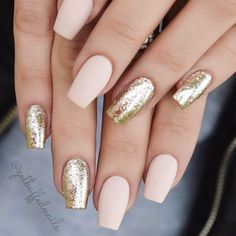 18 Nude Nails Designs for a Classy Look ★ Beautiful Glitter Nude Nails Designs Picture 4 ★ See more: http://glaminati.com/nude-nails/ #nudenails #nudenailsdesigns