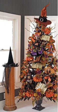 Halloween Trees......I'm that in love with Halloween my Christmas just may end up looking this way!! :D