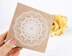 Big Size Lace Stamp  Wooden Rubber Stamp  Korean Stamp  by mieryaw, $6.20