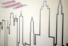 Easy DIY: NYC Skyline in Masking Tape