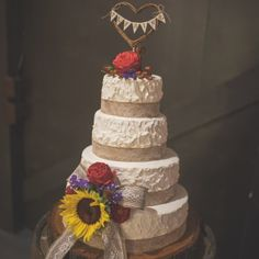 Sunflower Filled Rustic Wedding