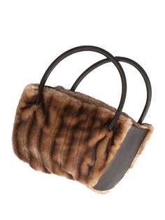 Faux or Recycled Fur Handbag - Free PDF + Sewing Faux Fur - the Basics #sewing