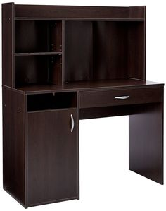 Sauder Beginnings Desk With Hutch, Cinnamon Cherry Finish Hidden Storage  Behind Door Two Adjustable Shelves Drawer With Easy Glide Metal Runners  Cinnamon ...