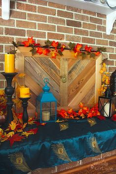 Build a Fireplace Insert Draft Stopper {a Lowe's Creator Idea} (Pretty Handy Girl) Wood Fireplace Inserts, Pallet Fireplace, Reclaimed Wood Fireplace, Unused Fireplace, Build A Fireplace, Fireplace Cover, Reclaimed Lumber, Fireplace Screens, Fireplace Ideas