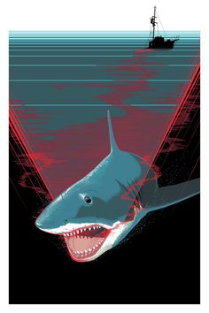 Alternative movie poster for Jaws by Craig Drake