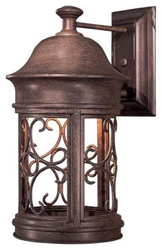 For The Great Outdoors Vintage Rust 1 Light Height Dark Sky Compliant Outdoor Wall Sconce From Sage Ridge Collection And Save