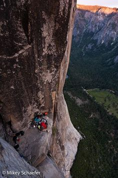 Madaleine Sorkin and Kate Rutherford at the top of El Capitan after free climbing Free Rider