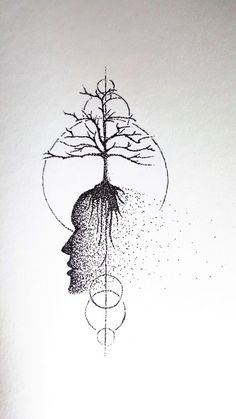 Original Art  Ink Drawing  Tree of Life  Dotwork  by MindIn2Matter
