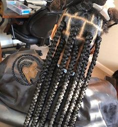 Top 60 All the Rage Looks with Long Box Braids - Hairstyles Trends Kids Box Braids, Large Box Braids, Short Box Braids, Blonde Box Braids, Jumbo Box Braids, Black Girl Braids, Braids For Black Hair, Girls Braids, Side Braids