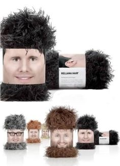 Creative packaging designed to promote Rellana Hair range of yarn Diane, you could do this with your scarves!
