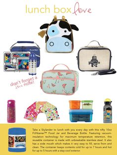Back-to-School Guide 2015 - our favorite lunch boxes and lunch box must 63c56efa0f533