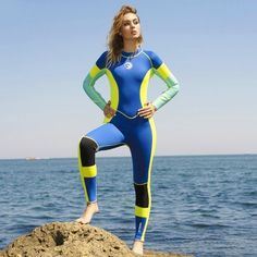 Find More Wetsuit Information about Neoprene Wetsuits Women Long Sleeve Zipper Keep Warm Snorkeling Swimsuits For Teens, Women Swimsuits, Diving Suit, Scuba Diving, Scuba Girl, Womens Wetsuit, Sailing Outfit, Suits For Women, Beachwear
