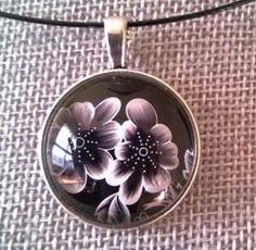 Black jewelry  Black necklace Flower necklace flower Wire Necklace, Black Necklace, Flower Necklace, Collar Necklace, Wire Jewelry, Jewelry Sets, Earrings, Black Jewelry, Modern Jewelry