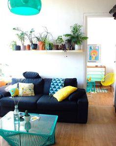 Décoration colorée dans le salon / Colors in the living room