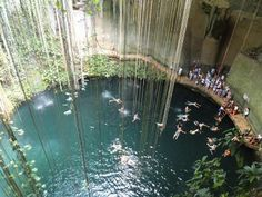 cenote near chichen itza, mexico - I want to go here!