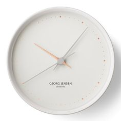 Georg Jensen - Henning Koppel Clock Graphic Ø 22 cm, white Antique Clocks, Shop Interior Design, Timeless Design, Decorative Accessories, Watches For Men, Antiques, Stuff To Buy, Inspiration, Home Decor