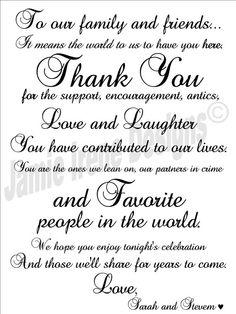 #Wedding Day Thank You Card by WeddingsByJamie