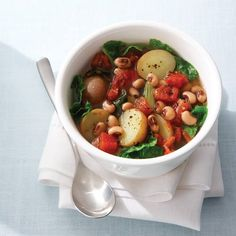 Black-Eyed Pea Stew: a trip to the south when the weather cools down... http://www.cleaneatingmag.com/Recipes/Recipe/Black-Eyed-Pea-Stew-with-Collard-Greens-Potatoes.aspx