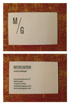 Graphic Identity - Architect Mathieu Guyaux
