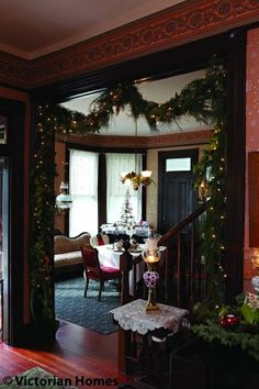 victorian christmas decorations for the home | Victorian Christmas decor | Victorian Homes